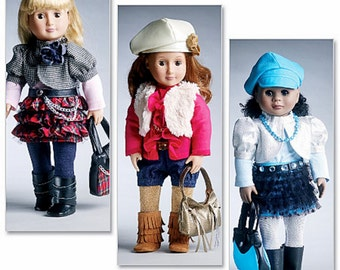 "18 inch Doll Clothes Pattern, 18"" Doll Clothes Pattern, 18 in Doll Clothes Pattern, McCall's Sewing Pattern 6480"