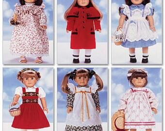 18 inch Doll Clothes Pattern, 18 inch Doll Coat Pattern, Pinafore Dress Pattern, Doll Pantaloons Pattern, Butterick Sewing Pattern 5589