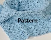 Baby Blanket Crocheting Pattern in Shell Stitch, Baby Photo Prop, Chunky Mini Blanket, Instant Download