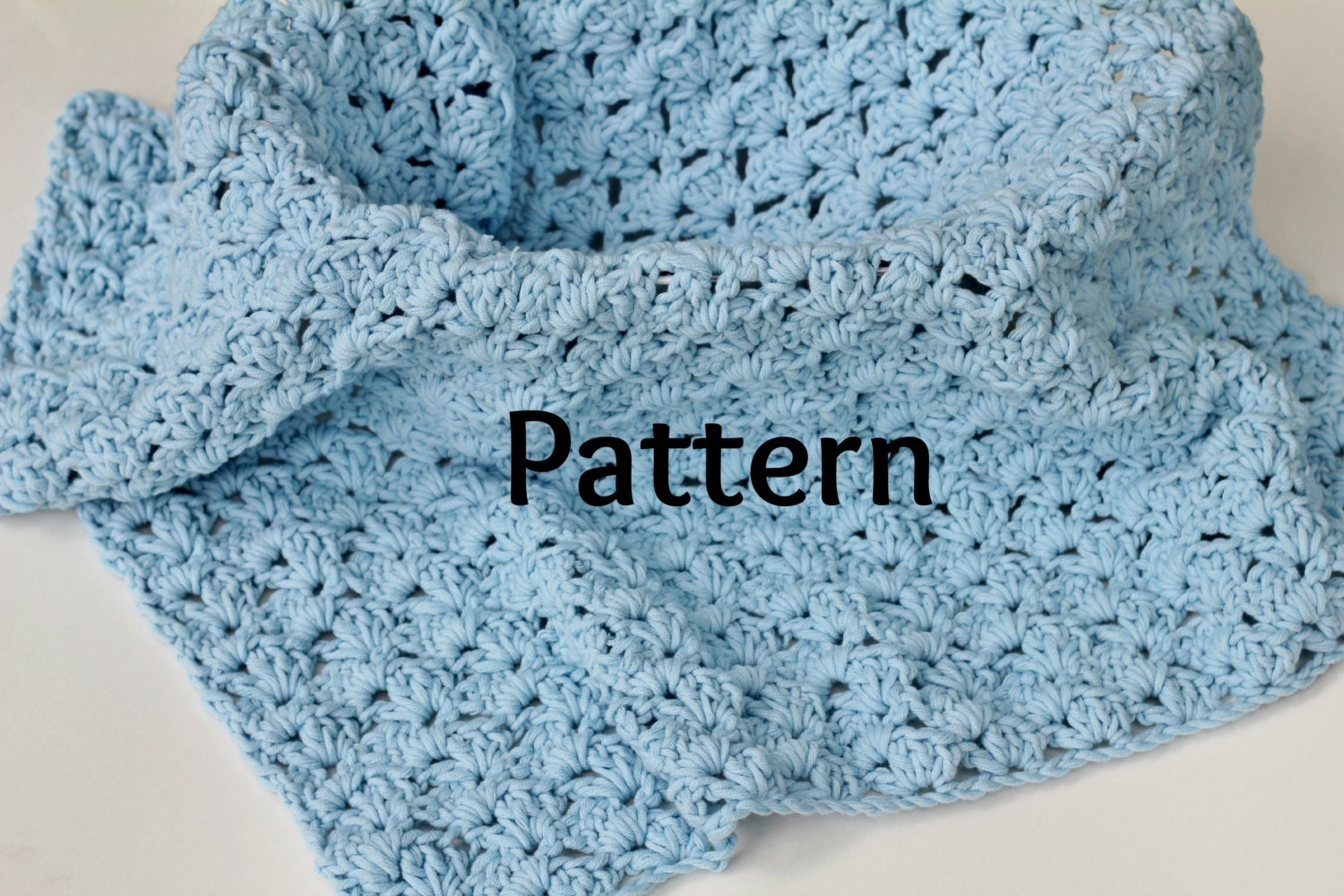 All Crochet Com : Baby Blanket Crocheting Pattern in Shell Stitch Baby Photo