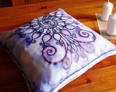 Decorative Pillow, Tree of Life pillow, throw pillow. silk throw pillow, silk art pillow, luxury pillow, organic pillow, luxury home decor