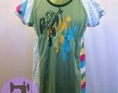 Legend Of Zelda, Link - Patchy Raglan Dress - size 4t
