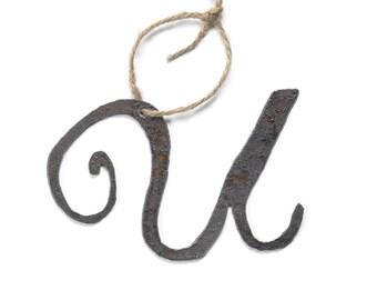 Monogram Letter Christmas Ornament Gift Free Shipping