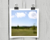 Fine art photograph (landscape 060) peaceful green minimalist home decor