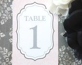 PRINTED Table Numbers - Set of 10 - Style TN3 - EDWARD COLLECTION