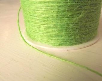 Burlap String 20 Yards  Parrot Green Lime Green