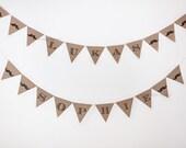 FREE SHIPPING - Custom Mustache kraft banner - baby shower, birthday mustache bash party