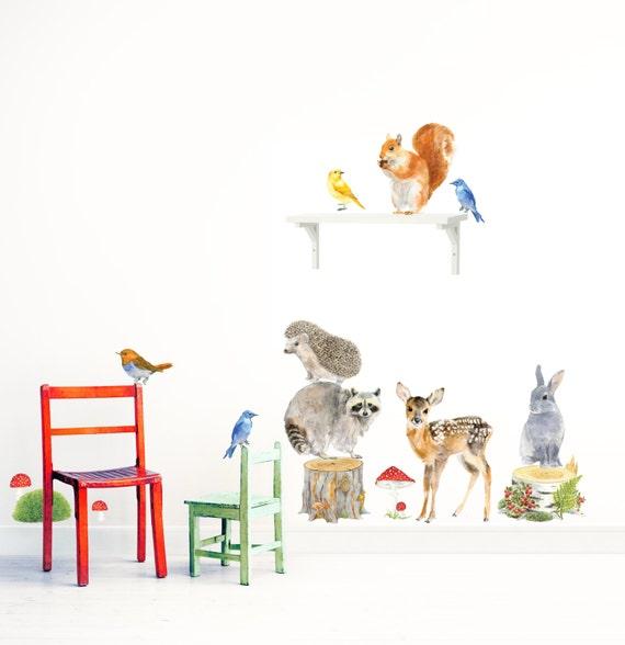 forest animals woodland animals set nursery woodland art. Black Bedroom Furniture Sets. Home Design Ideas