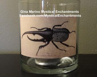 Halloween Beetle votive candle holder