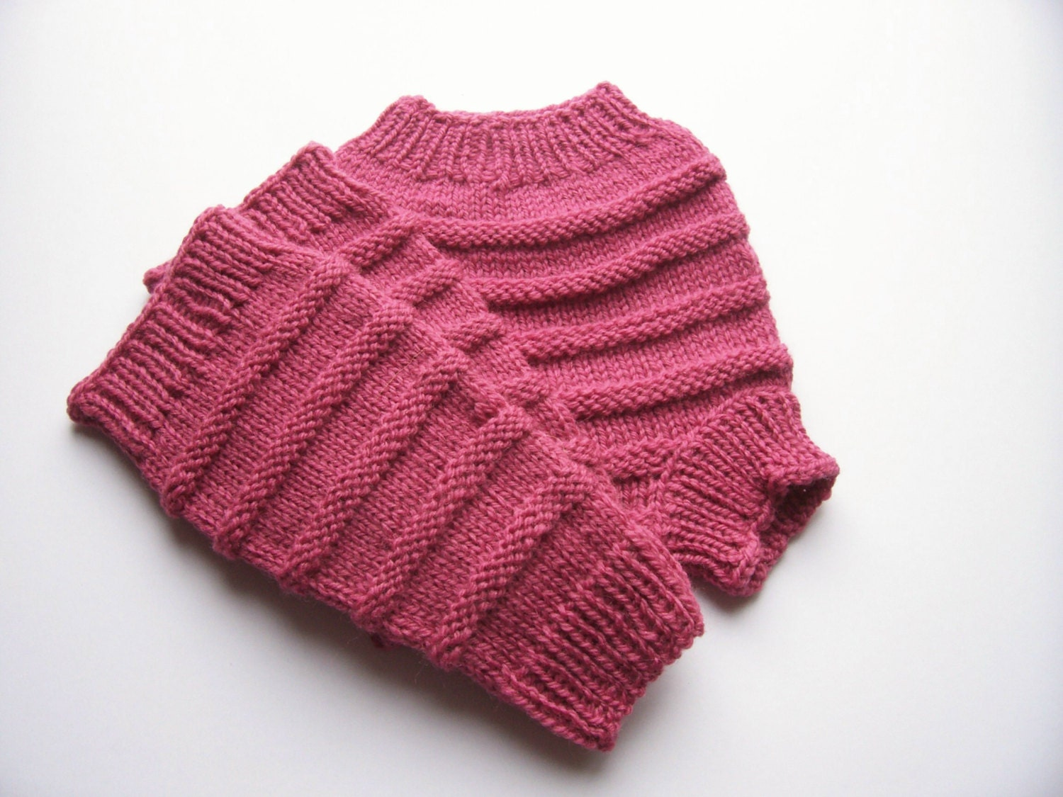 Knitting Pattern For Wool Diaper Covers : Hand Knitted Wool Cloth Diaper Cover Soaker with matching Leg
