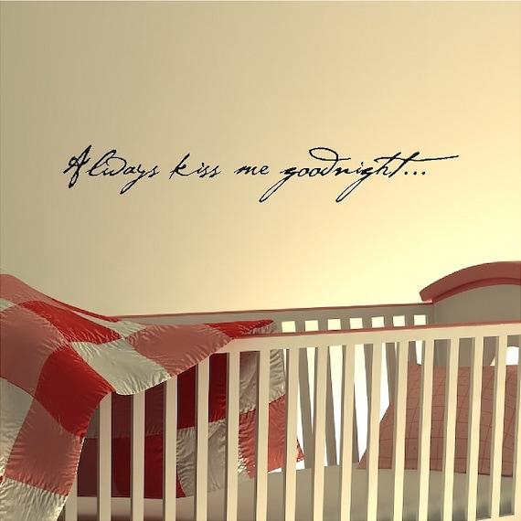 Popolare Sempre mi baci buonanotteCamera da letto parete scritte FX08