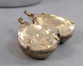 SALE Colorado Topaz,Earring,Vintage Earrings,Birthstone,Topaz Earring,Vintage Rhinestone,Yellow Stone,Yellow earring,November.
