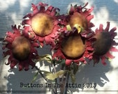 Prim Red Sunflowers