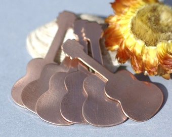 Copper Guitar Blanks Enameling Stamping Texturing 100% Copper Blank