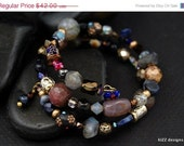 ON SALE Christmas in July-Mixed Wrap of Gems Bracelet