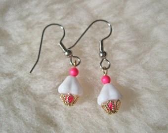 Surgical Steel Earrings or Niobium Earrings - Cute Cupcakes - Hypoallergenic Earrings for Sensitive Ears