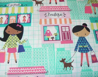 La Boutique Girl Cotton Fabric by Michael Miller - 1 Yard
