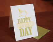 Happy BirdDay - yellow and green ST0007