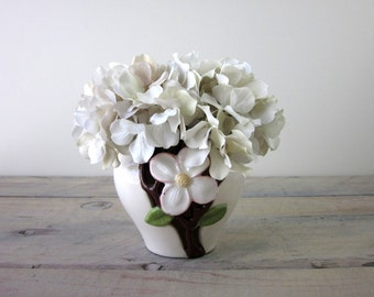 Hand Painted Dogwood Pottery Planter