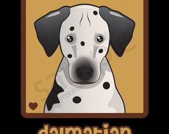 Dalmatian Cartoon Heart T-Shirt Tee - Men's, Women's Ladies, Short, Long Sleeve, Youth Kids