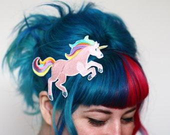 Unicorn Headband, Hair Band, Pink or White