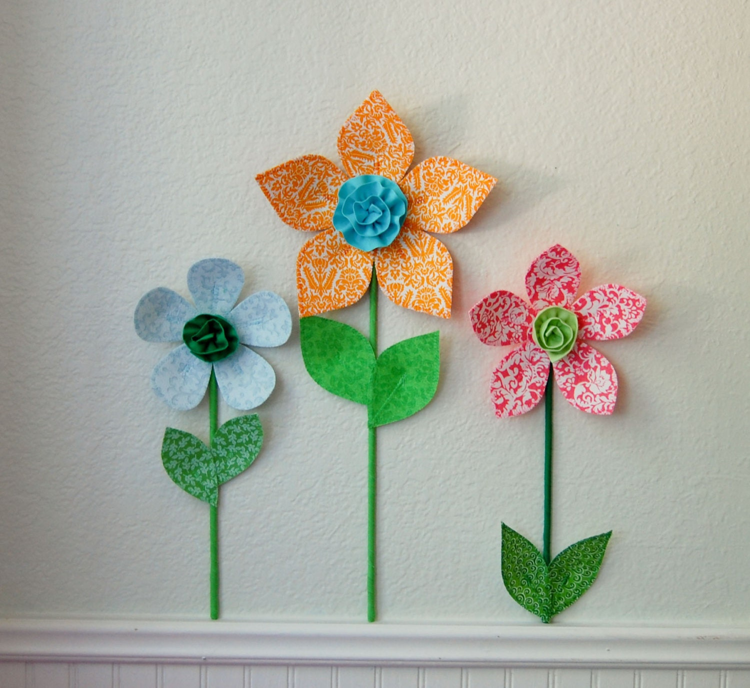 3d flower wall decor teen room wall decal by
