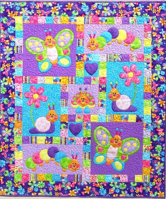 Bugsy Quilt Pattern Adorable Appliqu 233 Amp Pieced Quilt Sewing