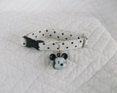 Polka Dot with Boy Mouse  Bell   Breakaway Collar Custom Made