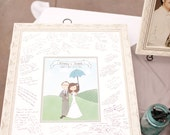 Illustrated Wedding Guest Book Alternative DIY PRINTABLE
