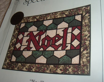 Fabric Stained Glass NOEL Design Pattern Spectral Designs 1992 Cathy Robiscoe
