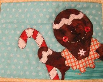 Ginger the Gingerbread Girl Mug Mat PDF Pattern