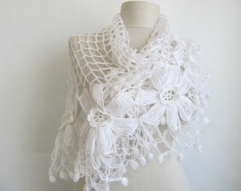Wedding Shawl / Bride Shawl / Bridal Shawl / Shrug / Ivory Shawl / Wedding Shawl / Ivory Bridal Shawl