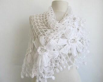 Wedding Shawl / Bride Shawl / Bridal Shawl / Shrug / Ivory Shawl / Wedding Shawl / Ivory Bridal Shawl