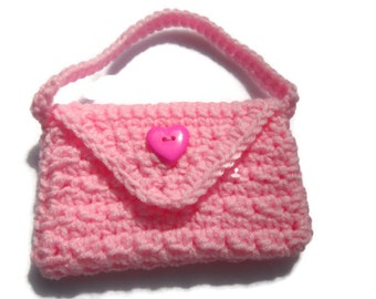 Little Girls Purse, Crochet Flower Girl Handbag, Minature Bride Gift, Little Handbag for a Special Little Girl By Charlen MADE TO ORDER