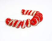 Lampwork Beads Set (16) - NB - Bloody Mary - Glass beads supplies.