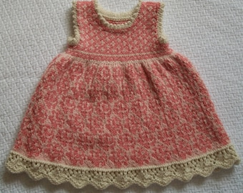 Knitting Pattern: Roses Dress Size Six Months