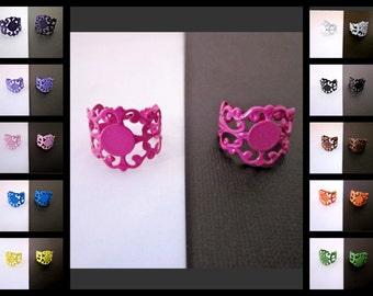 Adjustable Ring Blanks -- Wholesale Bling Jewelry -- Making Bead Rings -- DIY Filigree Rings -- Multi Pack -- Ring Blanks -- Colorful RIngs