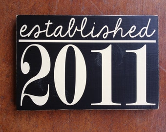 Year Established Family Sign ~ Custom Wood Sign ~ Established Sign ~ Year Married Sign ~ Wedding Gift ~ Shower Gift ~ Bride Sign ~ Reception