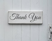 Thank You Wedding Prop Sign