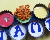 Boy's Personalized Monster Bottle Cap Picture Frame