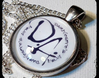 DUMBLEDORE'S ARMY . Glass Pendant Necklace . Harry Potter . D.A. . GirlGameGeek