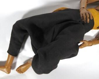 Black Linen Harem Parachute Pants BJD MSD SD 70cm 80cm