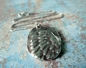 Angel Wing Necklace. Ask, Believe, Receive. Fine Silver Pendant. Handmade Jewelry