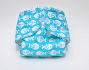 Baby Doll Diaper - Fish - Size Small