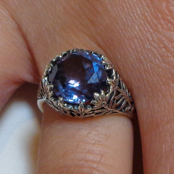 Vintage Alexandrite Engagement Ring