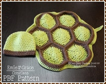 Crochet Turtle Pattern, Hat and Cape Costume, TITUS and TARYN TURTLE - pdf 711
