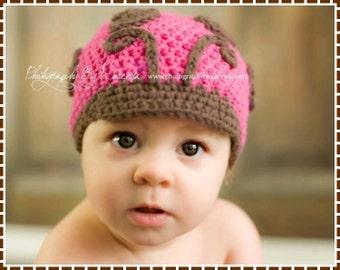 Crochet Ladybug Hat Pattern, Newsboy Love Bug, LIL' LADYBUG - pdf 125