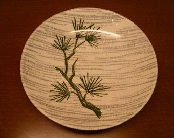 "Vintage 1950's ""Desert Pine"" Bowl By Primrose China Co."