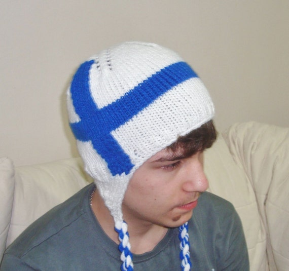 Finland Flag Beanie Finnish Hat In Blue Amp White For By