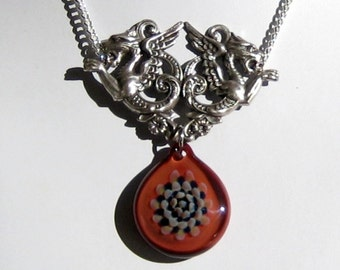 Burnt Umber Glass Pendant - Mythical Beast